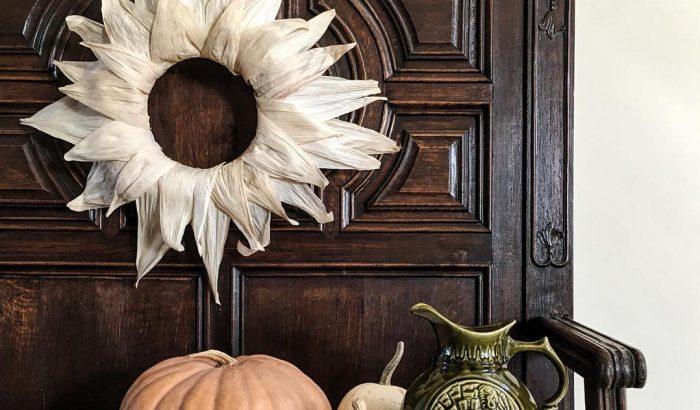 4 cseppet sem szokványos őszi ajtódísz