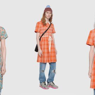 Férfiaknak tervezett masnis ruhát a Gucci