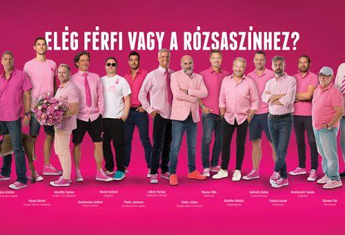 Ismert férfiak öltöztek rózsaszínbe a mellrák megelőzésért