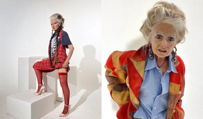 Vivienne Westwood combfixben mutatta meg magát