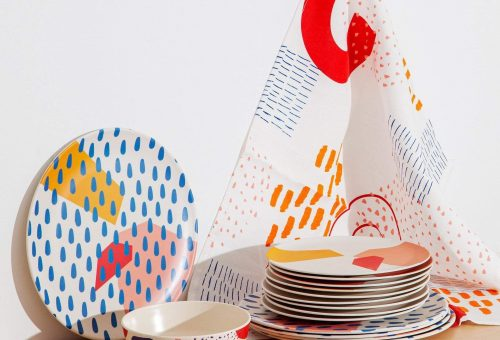 Művészi minták a konyharuhán is