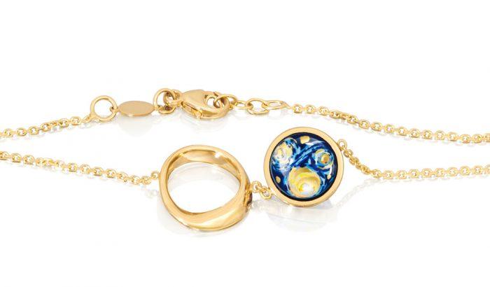 Van Gogh inspirálta meseszép aranyékszerek