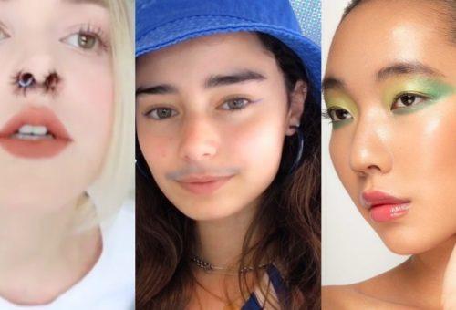 Kék lánybajusz, üvegbőr, műszempilla az orrban: sokkoló szépségakciók 2020-ból