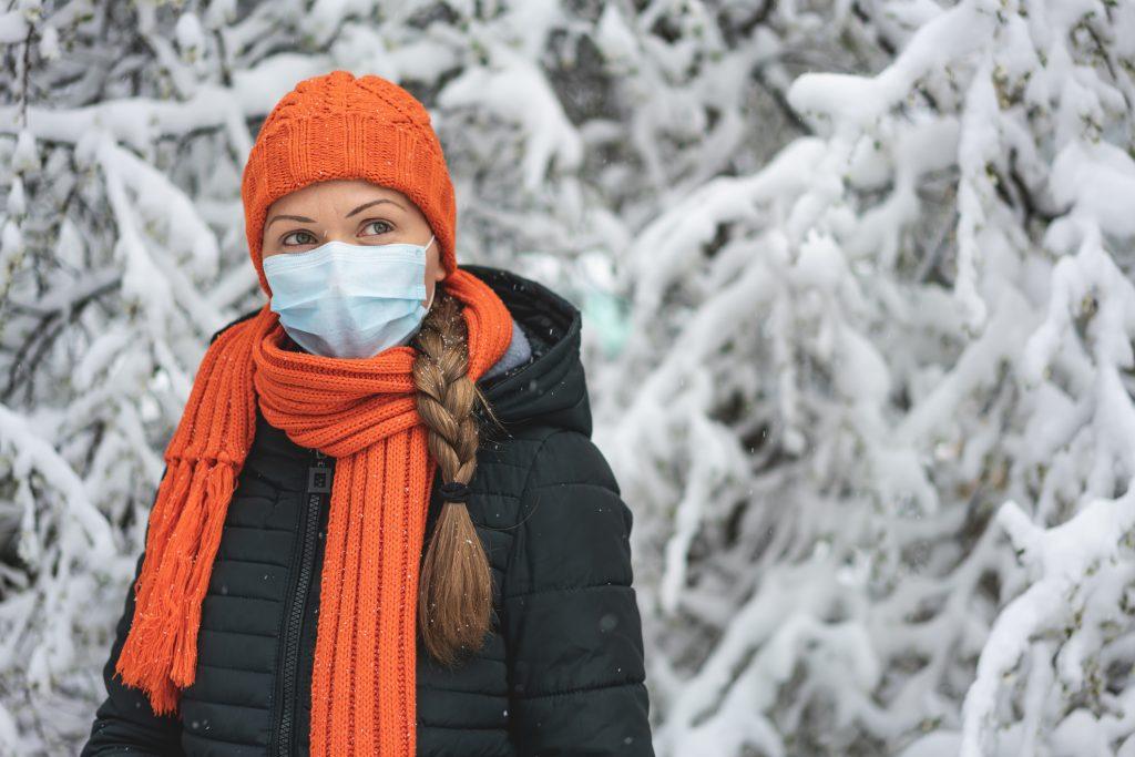 arcbőr maszk tél