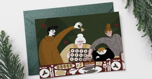 Karácsonyi képeslapokkal ajándékoz meg a magyar illusztrátor