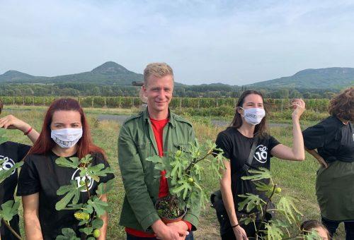 Fát ültetett Udvaros Dorottya a Kaukázus zenekarral