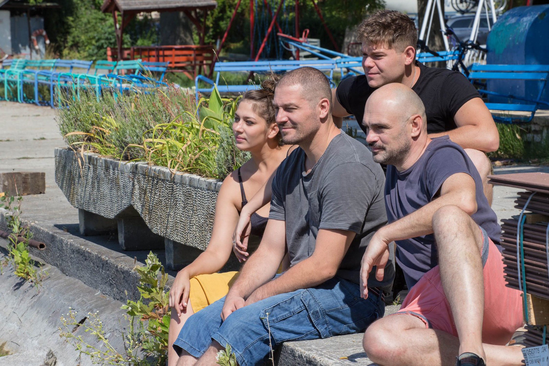 2. kép: Tenki Dalma, Gula Péterrel, Mészáros Andrással és Hajdu T. Miklós