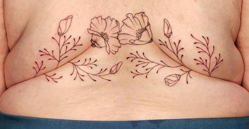 A tetoválóművész alkotásai különleges üzenetet hordoznak a kövérségről