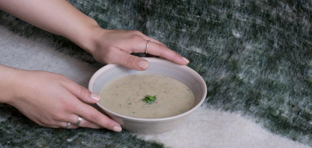 vaníla-gomba-leves