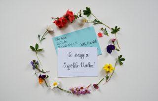 Kézzel írott képeslap anyák napjára