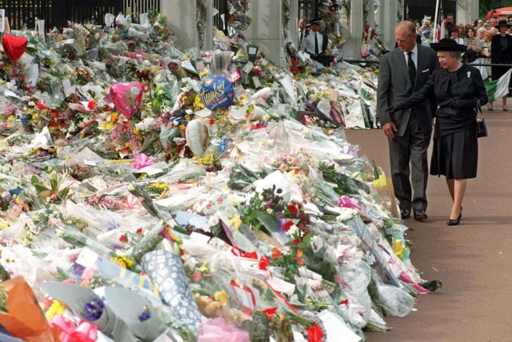 Fülöp herceg és II. Erzsébet Diana halála után
