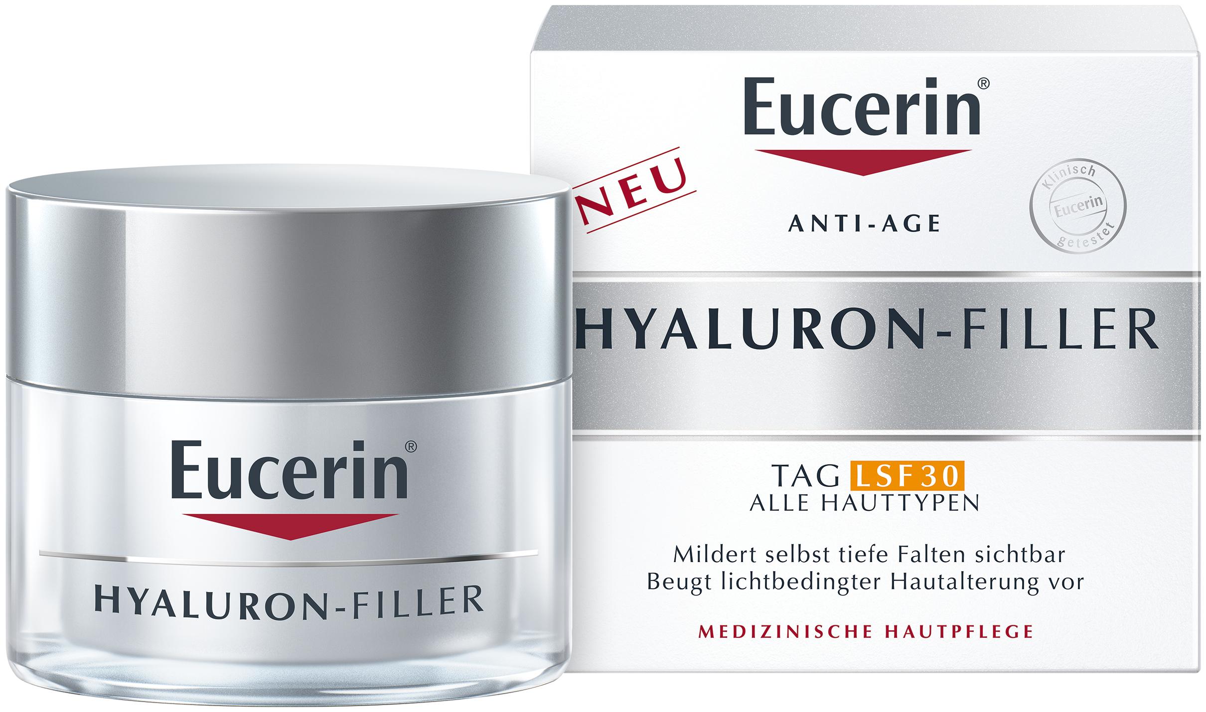 5. kép:  Az olvasók szavazatai alapján A LEGJOBB FÉNYVÉDŐ ARCKRÉM kategóriában 1. helyezett az Eucerin Hyaluron-Filler Ráncfeltöltő nappali arckrém SPF 30, 50 ml