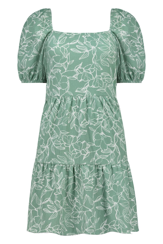 2. kép: Zöld virágmintás ruha: 4790 Ft