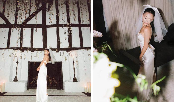 Vera Wang tervezte Ariana Grande meseszép menyasszonyi ruháját