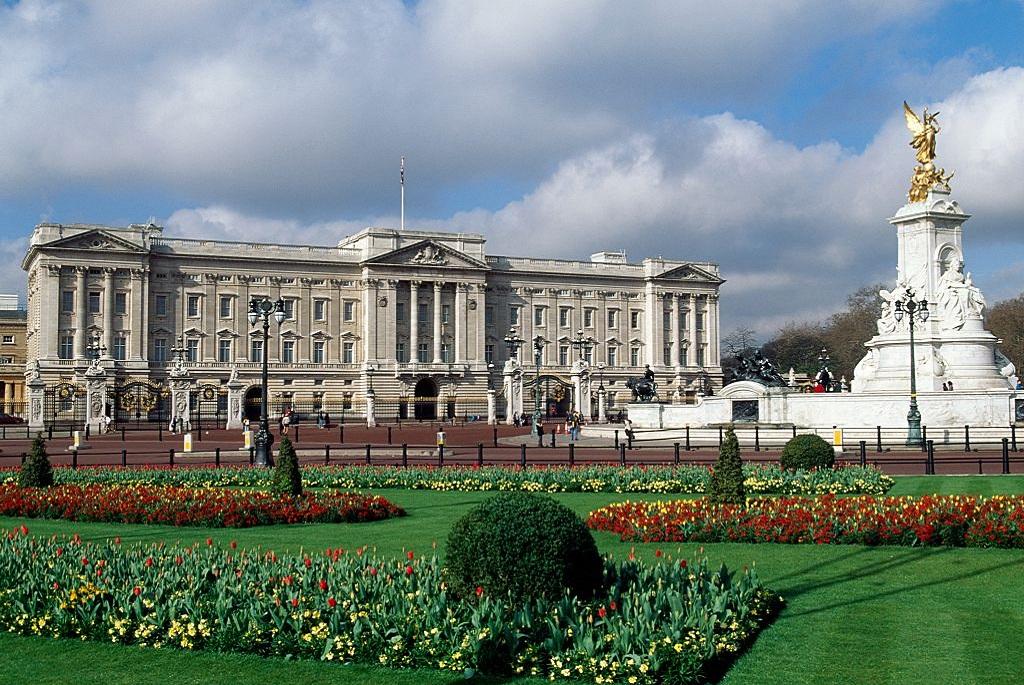 A londoni Buckingham Palota - az angol királyi család otthona