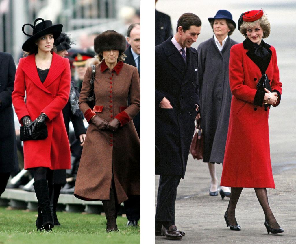 Diana hercegné és Kate Middleton stílusa nagyon hasonló