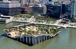 Már látogatható a Hudson folyóra épített mesterséges sziget