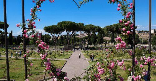 Pazar látványt nyújt Róma virágba borult tózsakertje