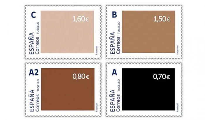 A spanyol posta különböző bőrszínű bélyegekkel állt ki a rasszizmus ellen