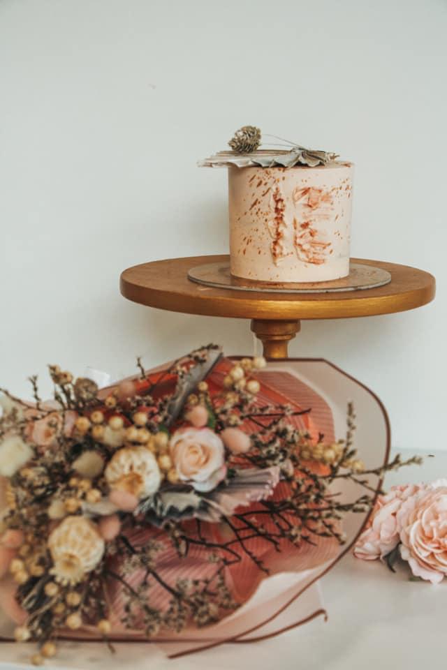 5. kép: Az arannyal festett torta is trendi