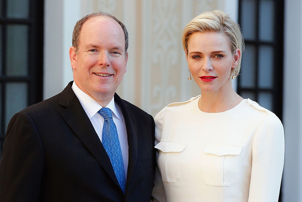 II. Albert monacói herceg feleségével, Charlene hercegnővel