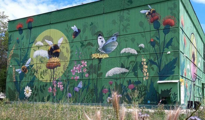 Óriási falfestmény hívja fel a figyelmet a méhek fontosságára