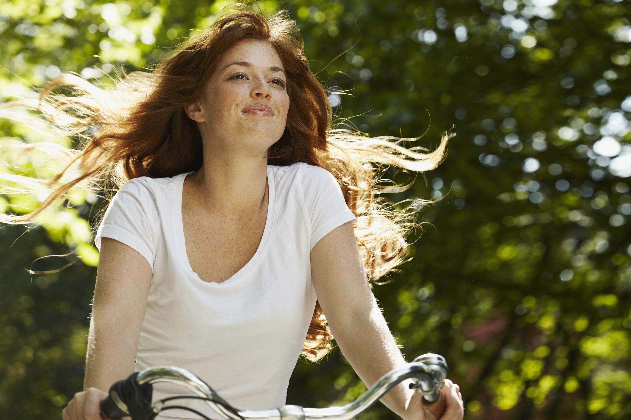 kerékpáros nő