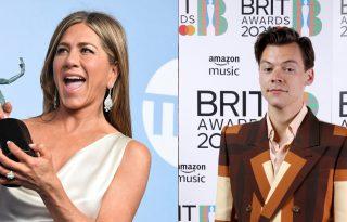 Jennifer Aniston és Harry Styles ugyanabban a kosztümben: kinek állt jobban?