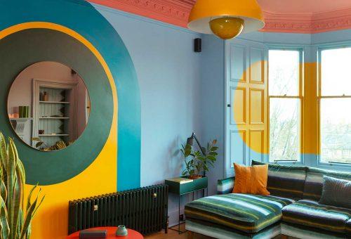 Színterápia és modern művészet a különleges edinburgh-i lakásban