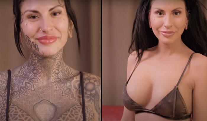 Elsírta magát, amikor meglátta testét tetoválások nélkül