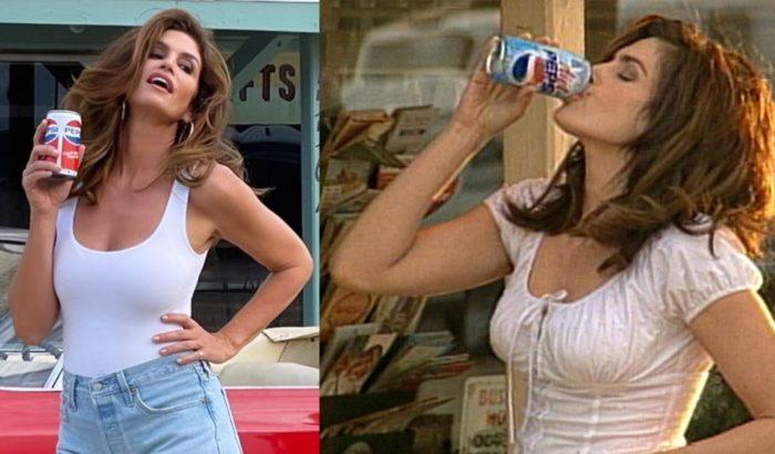 Cindy Crawford jótékonysági célból újraalkotta ikonikus Pepsi-reklámját