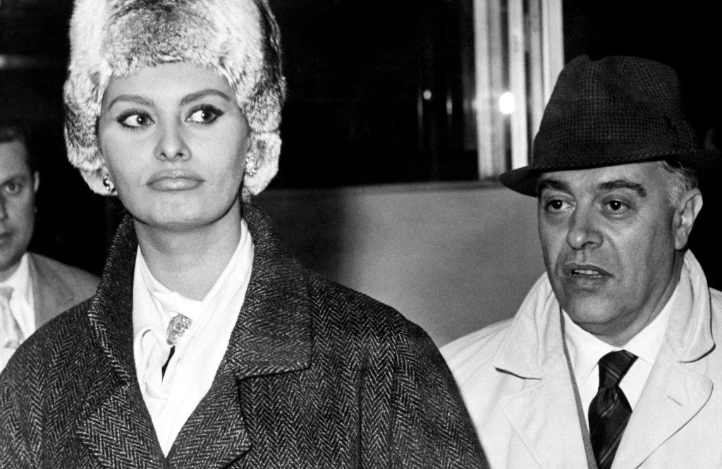 Sophia Loren és Carlo Ponti már házasként, 1961-ben