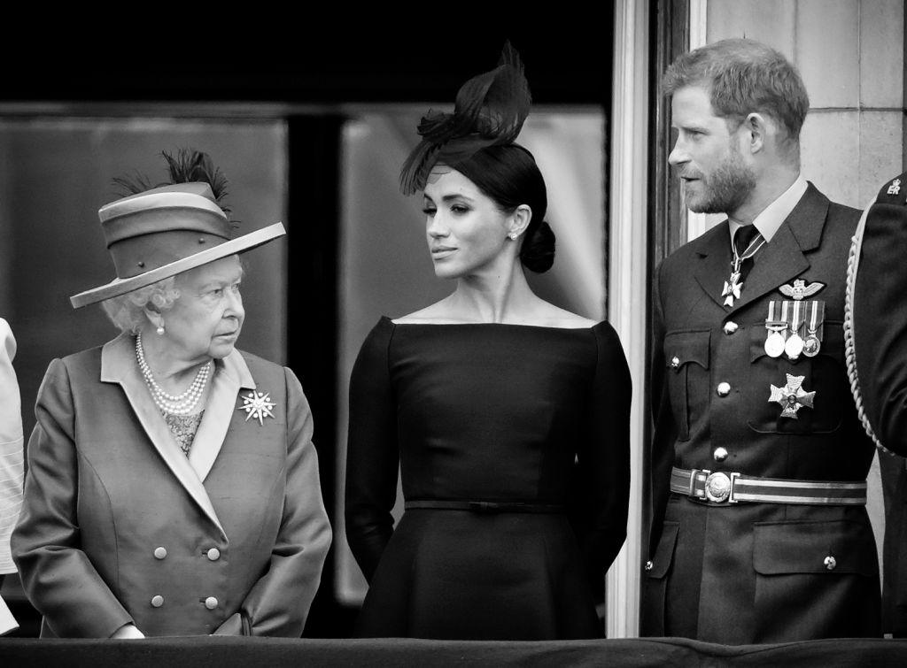 Harry herceg, II. Erzsébet királynő és Meghan Markle