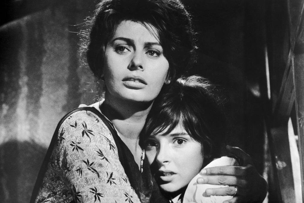 Sophia Loren és Eleonora Brown az Egy asszony meg a lánya című filmben