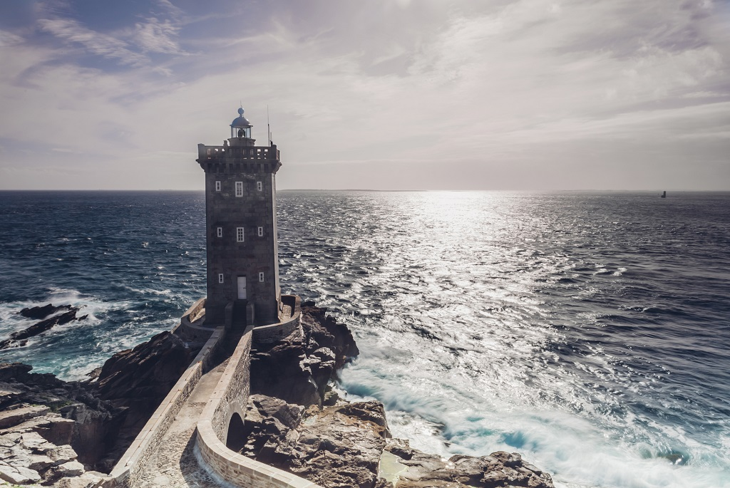 A Kermorvan világítótorony Franciaországban