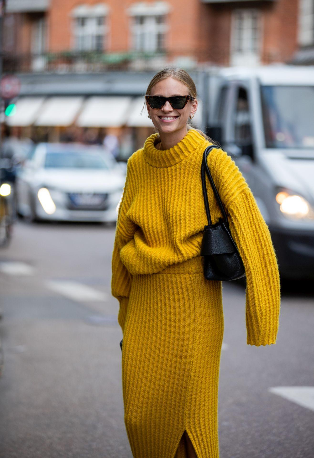 street style - kötött pulóver